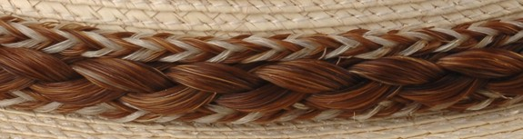 5 Strand Horse Hair w French Braid Hatband