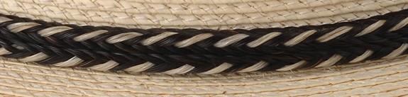 French Braid Horse Hair Hatband w bead wrap -Pattern 6