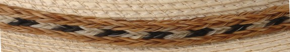 Horse Hair Hatband-3 Strand, Style 7