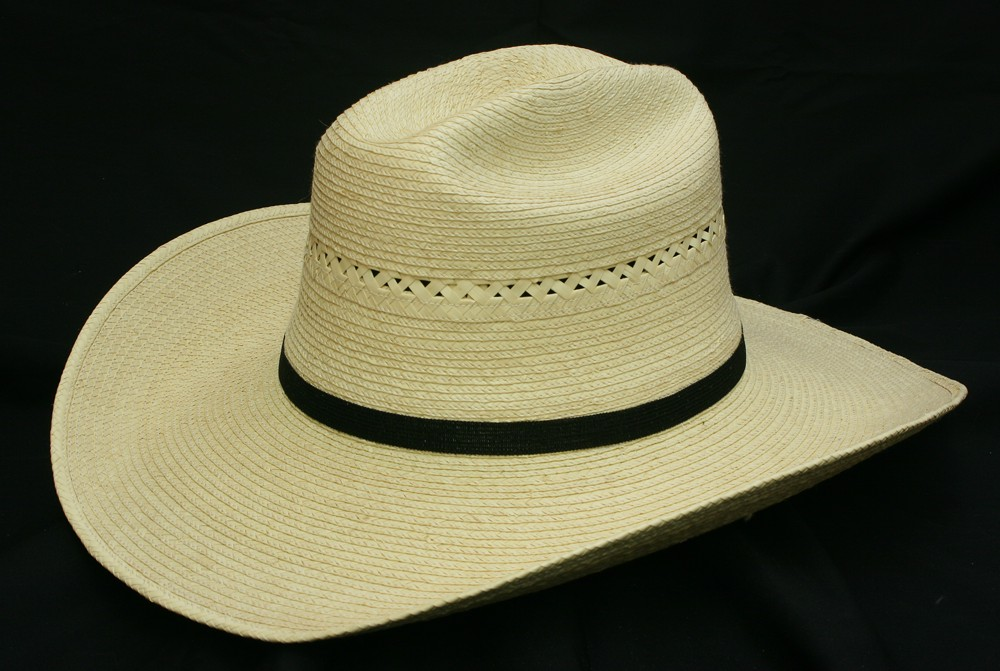 2b827ded1ea 4 or 5 Inch Brim Vented Cattleman Palm Hat